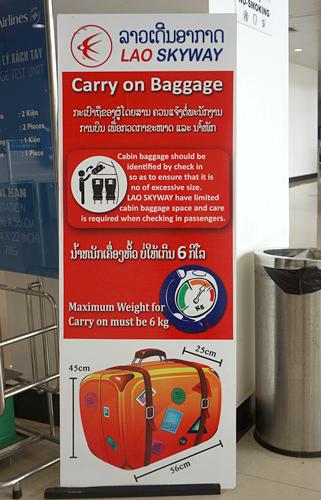 機内持ち込み荷物についての説明