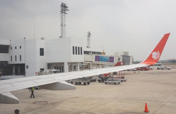 ドンムアン空港に到着