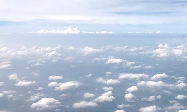 フライト中の景観