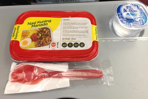 インドネシア・エアアジアの機内食