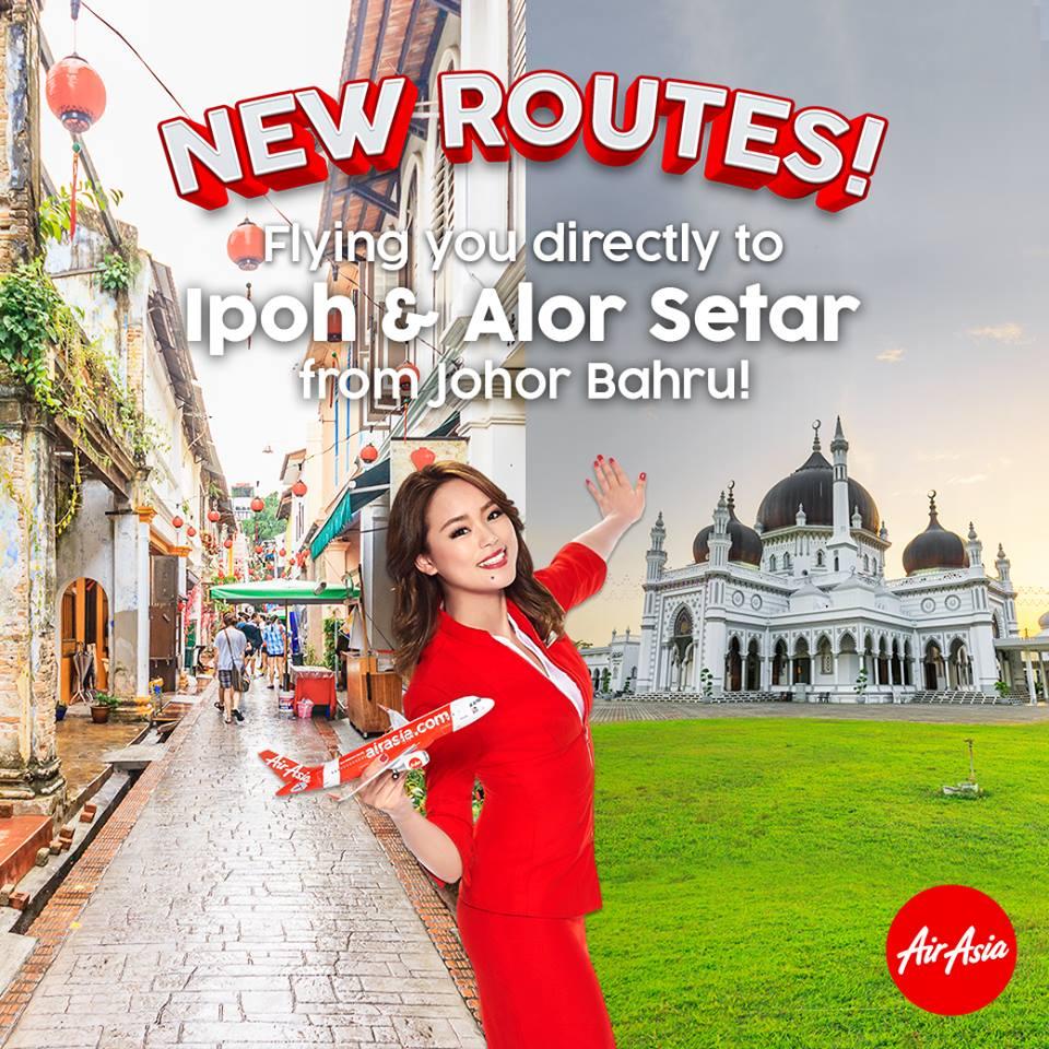 エアアジア、ジョホールバル発着で国内線2路線を開設