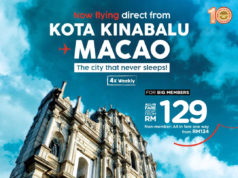 エアアジア、コタキナバル~マカオ線に新規就航