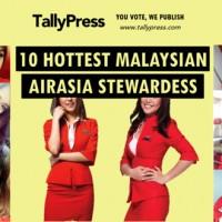 エアアジアで最もホットなマレーシア人フライトアテンダント ベスト10