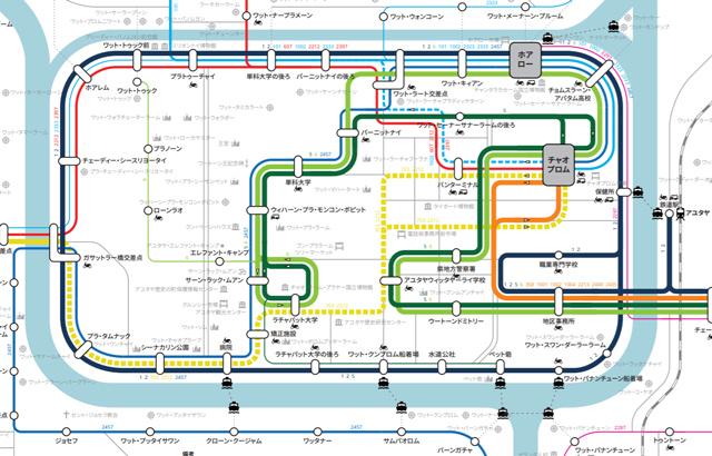 アユタヤバスマップ日本語版