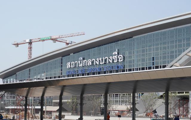 建設が進むバンスー中央駅