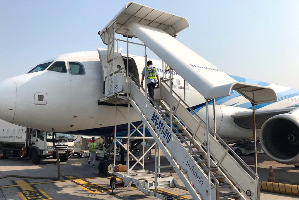 バンコクエアウェイズのエアバスA319型機