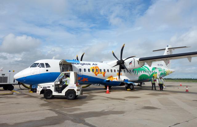 ンコクエアウェイズのATR72-600型機