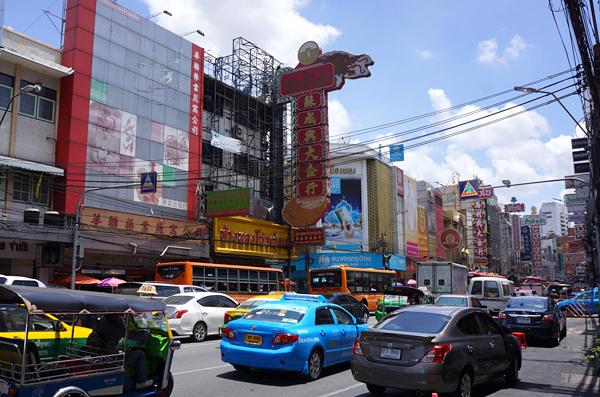 バンコクのチャイナタウン ヤワラー通り
