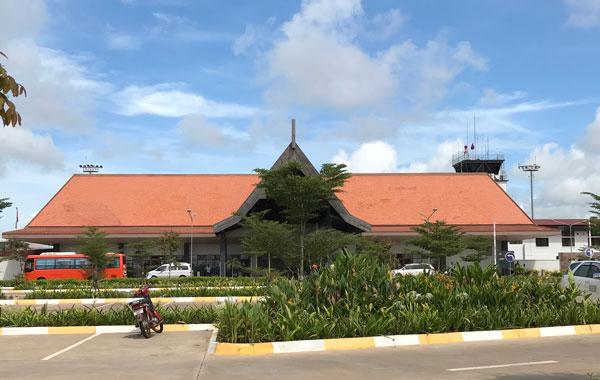 シェムリアップ空港の国内線ターミナル