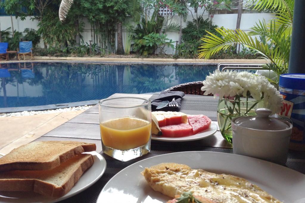 ビラボンホテルの朝食