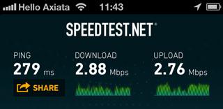 インターネットの接続速度チェック