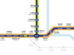 バンコクMRTブルーライン路線図