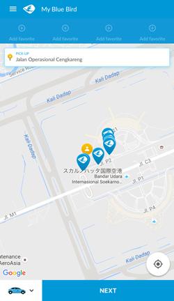 ブルーバードタクシーのアプリ