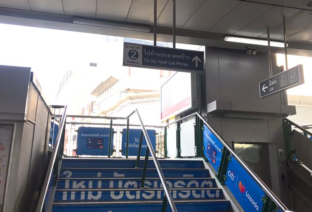 駅での行き先表示