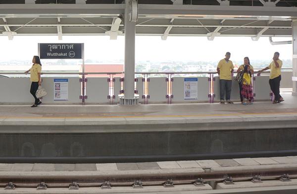 BTSウッタカート駅のプラットホーム