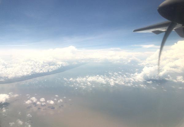 フライト中の景色