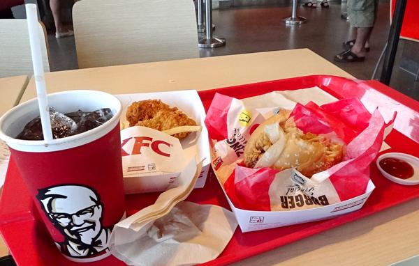 KFCで昼食
