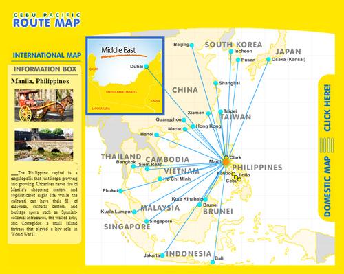 セブパシフィック航空 ルートマップ