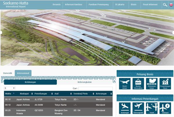 スカルノ・ハッタ国際空港公式サイト