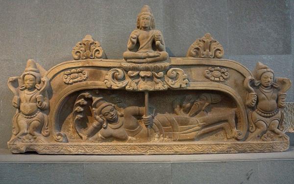 ヴィシュヌ神の横臥像