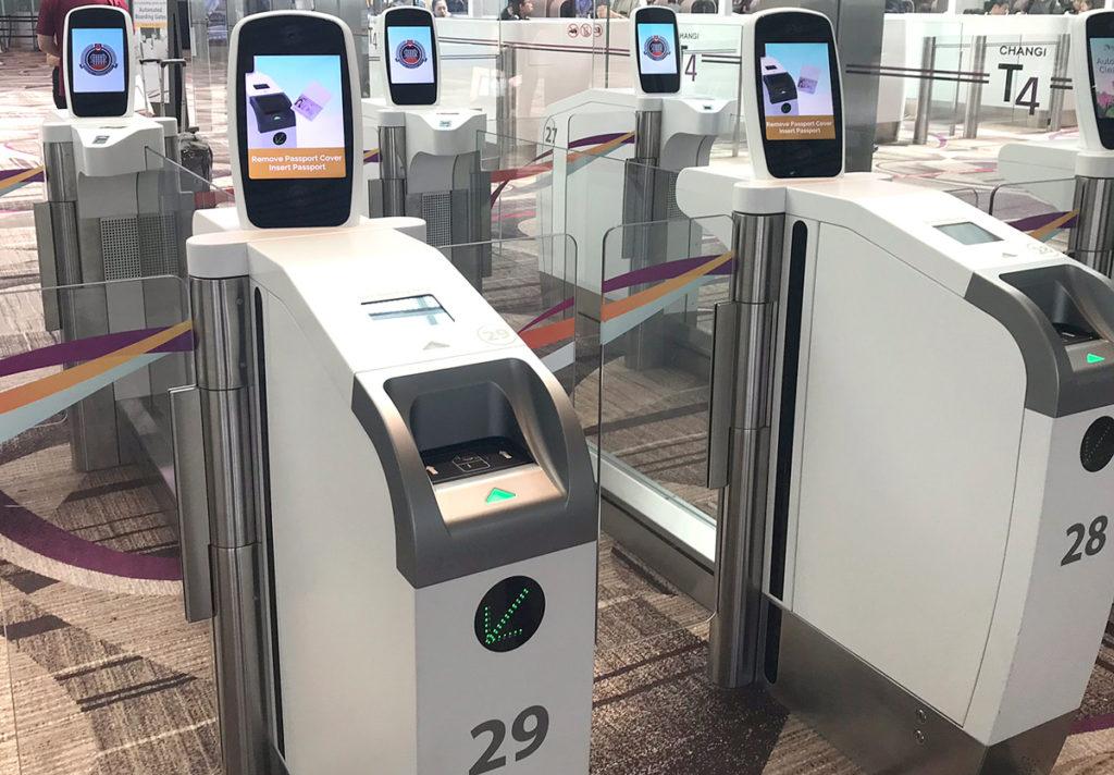 チャンギ空港ターミナル4の自動化ゲート