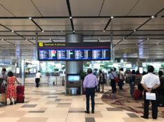 チャンギ空港ターミナル4の到着フロア