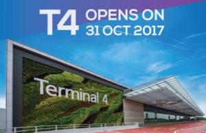 チャンギ空港ターミナル4 2017年10月31日に供用開始