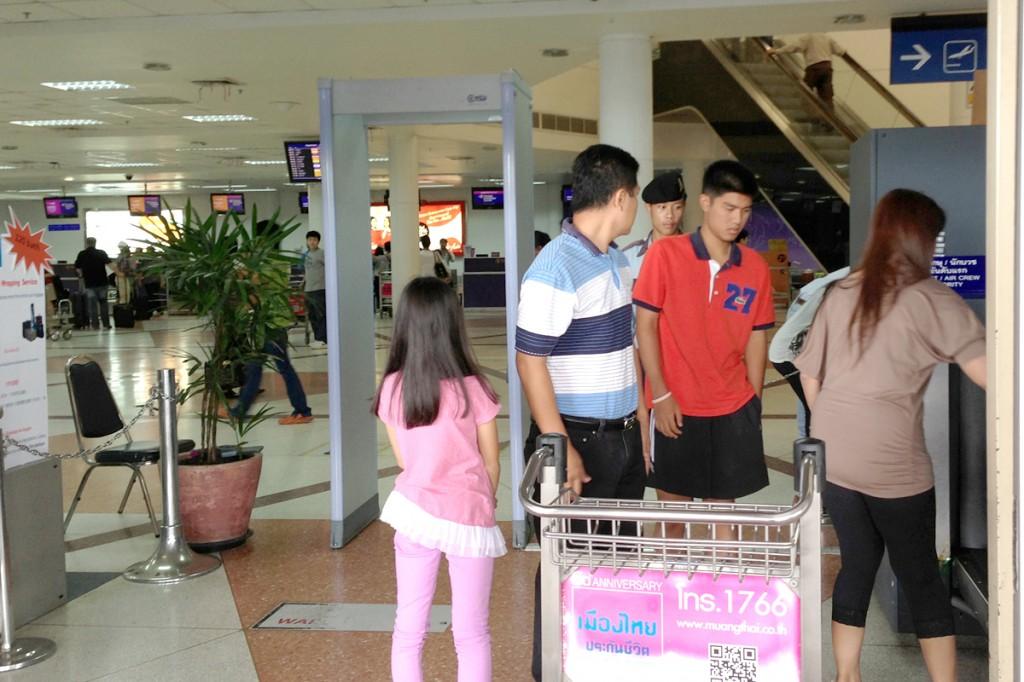 チェンマイ国際空港のセキュリティーチェック