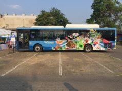 チェンマイの新しい路線バス