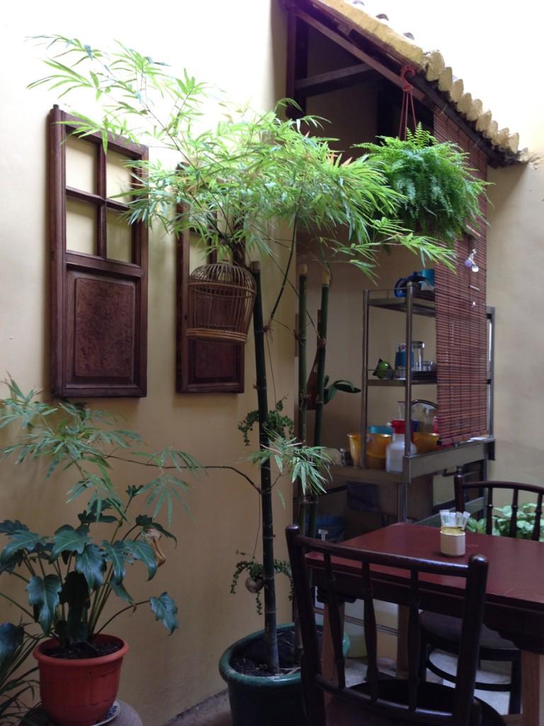 1階のカフェ