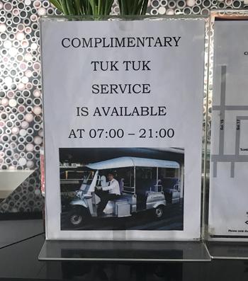 トゥクトゥクは午前7時~午後9時まで