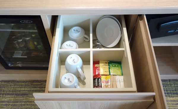 無料のコーヒー、紅茶など