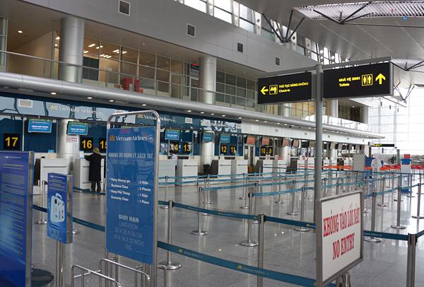 ダナン国際空港ターミナル内の様子