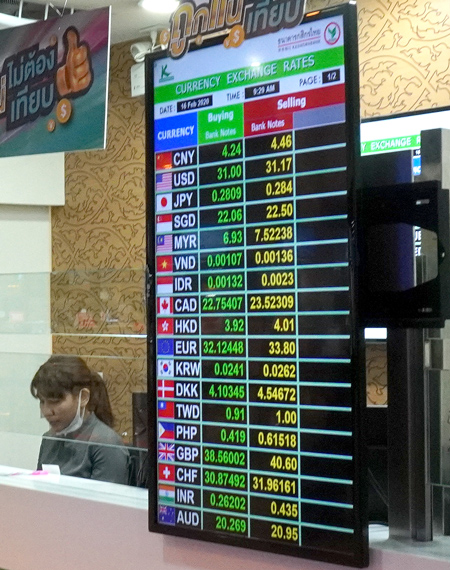 カシコン銀行も出発フロアは2,809バーツ
