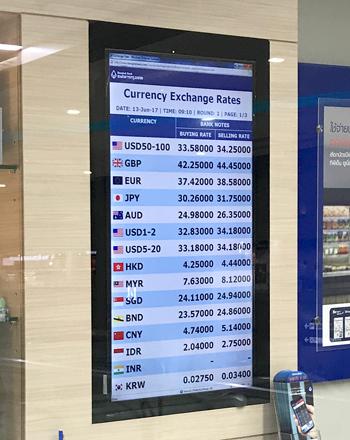 バンコク銀行の為替レート