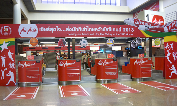ドンムアン空港 エアアジアのチェックインカウンター