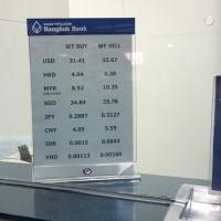 バンコク銀行の両替レート
