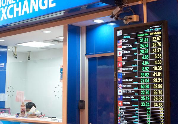 タイミリタリー銀行の両替レート
