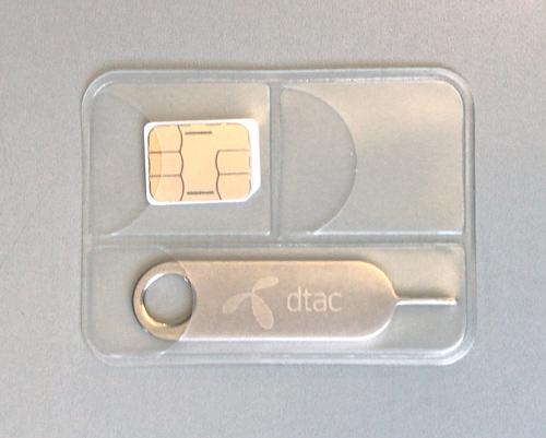 SIMカードケースとピン