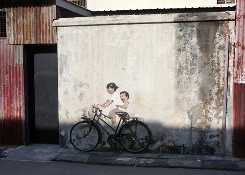 ペナン・ジョージタウンのストリートアート