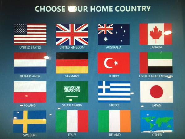 出身国の選択