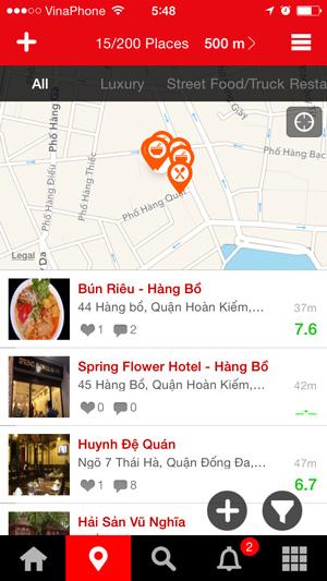 foody検索画面
