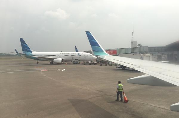 スカルノ・ハッタ国際空港に到着