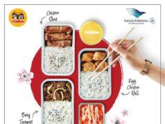 ガルーダ・インドネシア航空、機内食にHokBenのメニューを提供
