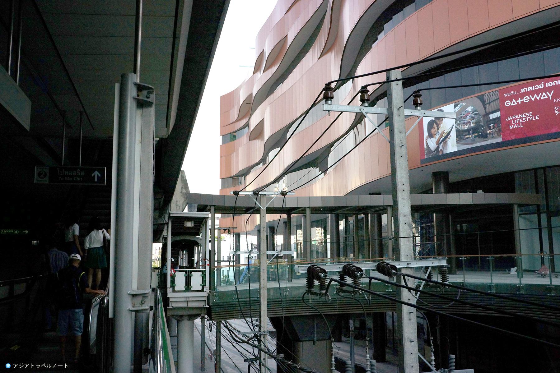 BTSエカマイ駅と直結されているゲートウェイ・エカマイ