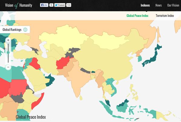 世界平和度指数2013