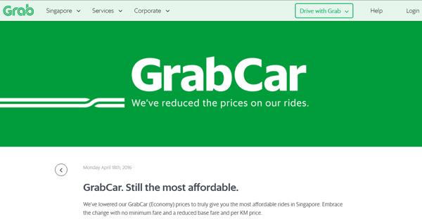 GrabCar Singapore