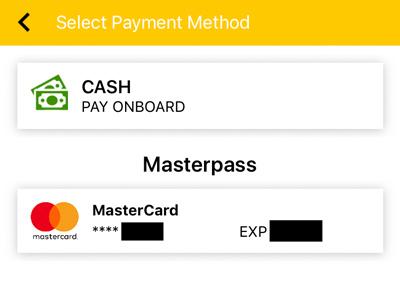 クレジットカードでの支払いもOK