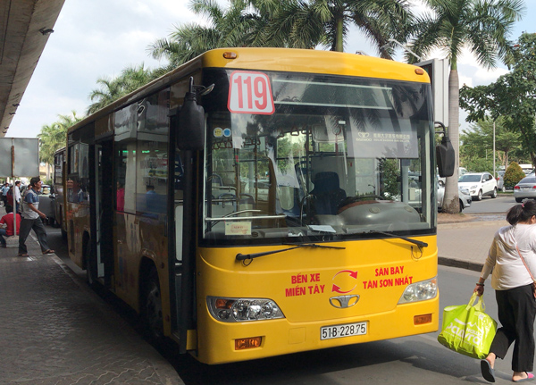 ホーチミンの119番バス