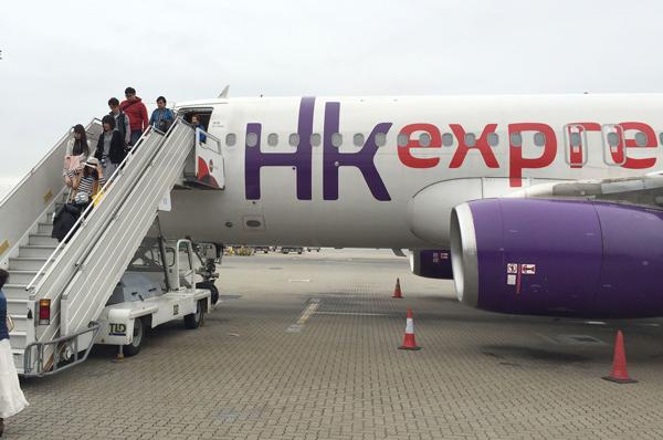香港エクスプレス航空のエアバスA320型機